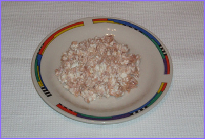 ketogenic diet - fresh cheese with tuna